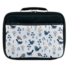 Spring Flowers And Birds Pattern Lunch Bag
