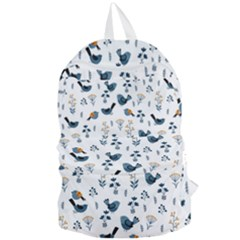Spring Flowers And Birds Pattern Foldable Lightweight Backpack