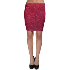 Red  Glitter Bodycon Skirt