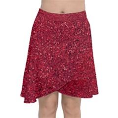 Red  Glitter Chiffon Wrap