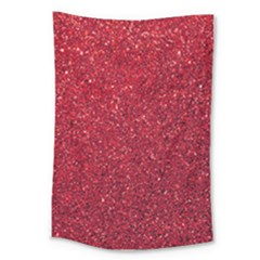 Red  Glitter Large Tapestry
