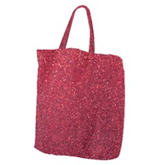 Red  Glitter Giant Grocery Zipper Tote