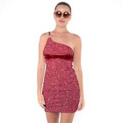 Red  Glitter One Soulder Bodycon Dress