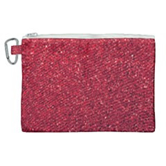 Red  Glitter Canvas Cosmetic Bag (xl)