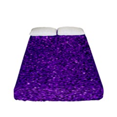 Purple  Glitter Fitted Sheet (full/ Double Size)