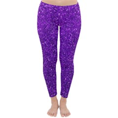 Purple  Glitter Classic Winter Leggings