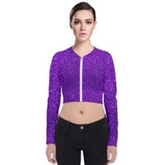 Purple  Glitter Bomber Jacket