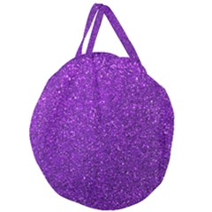 Purple  Glitter Giant Round Zipper Tote