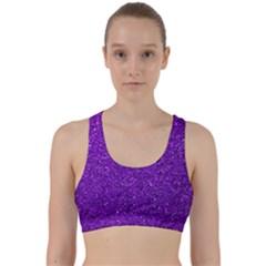 Purple  Glitter Back Weave Sports Bra