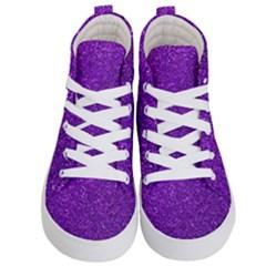 Purple  Glitter Kid s Hi Top Skate Sneakers