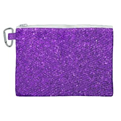 Purple  Glitter Canvas Cosmetic Bag (xl)