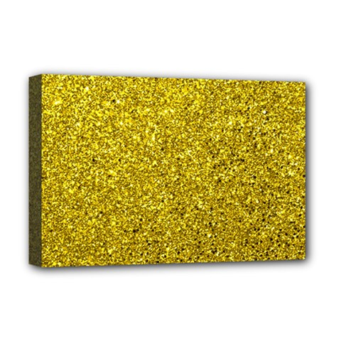 Gold  Glitter Deluxe Canvas 18  X 12