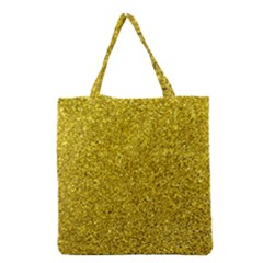 Gold  Glitter Grocery Tote Bag
