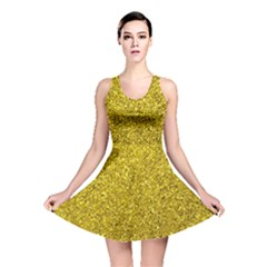 Gold  Glitter Reversible Skater Dress