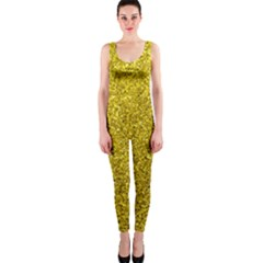 Gold  Glitter One Piece Catsuit