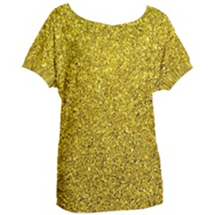 Gold  Glitter Women s Oversized Tee
