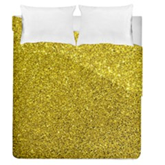 Gold  Glitter Duvet Cover Double Side (queen Size)