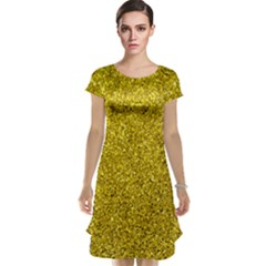 Gold  Glitter Cap Sleeve Nightdress