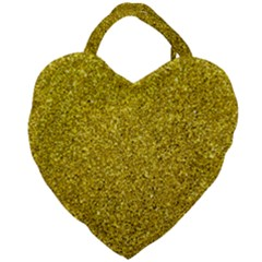 Gold  Glitter Giant Heart Shaped Tote