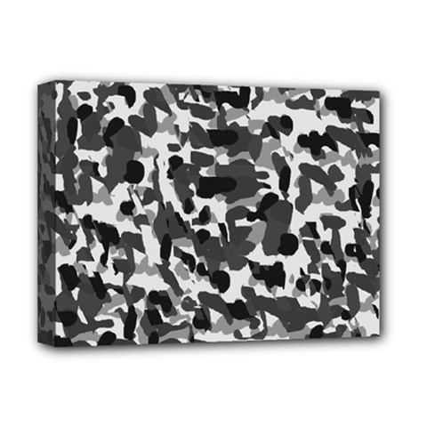 Grey Camo Deluxe Canvas 16  X 12