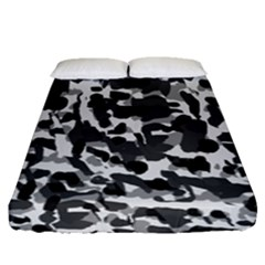 Grey Camo Fitted Sheet (queen Size)