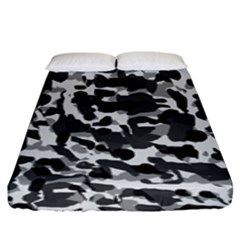 Grey Camo Fitted Sheet (king Size)