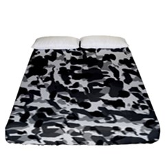 Grey Camo Fitted Sheet (california King Size)
