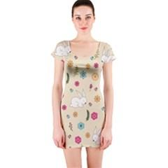 Easter Bunny  Short Sleeve Bodycon Dress