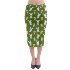 Easter Kawaii Pattern Midi Pencil Skirt