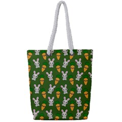 Easter Kawaii Pattern Full Print Rope Handle Tote (small)