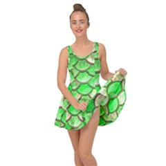Green Mermaid Scale Inside Out Dress