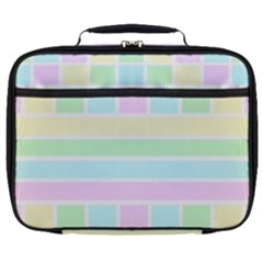 Geometric Pastel Design Baby Pale Full Print Lunch Bag