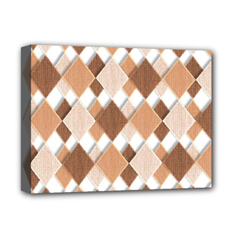 Fabric Texture Geometric Deluxe Canvas 16  X 12