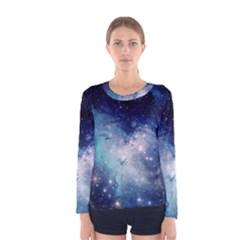 Nebula Blue Women s Long Sleeve Tee