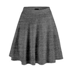 Black Denim High Waist Skirt