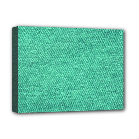 Green Denim Deluxe Canvas 16  X 12