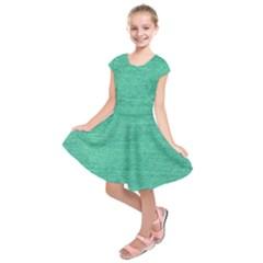 Green Denim Kids  Short Sleeve Dress