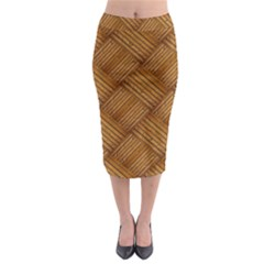 Wood Texture Background Oak Midi Pencil Skirt