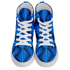 Abstract Waves Motion Psychedelic Men s Hi Top Skate Sneakers