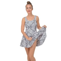 Black And White Oriental Ornate Inside Out Dress