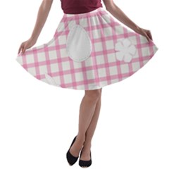 Easter Patches  A Line Skater Skirt