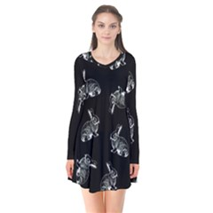 Rabbit Pattern Flare Dress