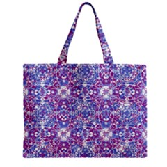 Cracked Oriental Ornate Pattern Zipper Mini Tote Bag