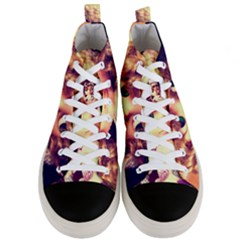 Strike A Pose Men s Mid Top Canvas Sneakers