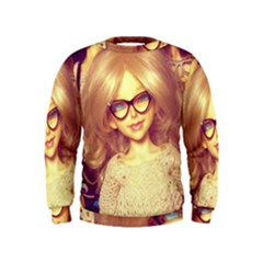 Girls With Glasses Kids  Sweatshirt