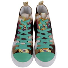 Eating Lunch Women s Mid Top Canvas Sneakers