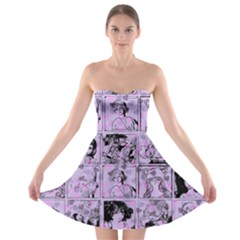 Lilac Yearbook 1 Strapless Bra Top Dress