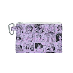 Lilac Yearbook 1 Canvas Cosmetic Bag (small)