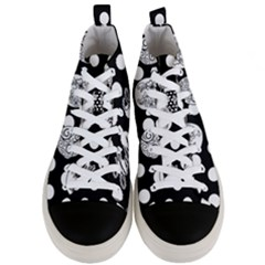 Easter Eggs Men s Mid Top Canvas Sneakers