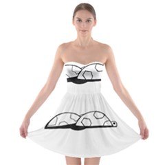 Turtle Strapless Bra Top Dress